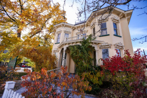 The historic Rinckel Mansion, home of the Nevada Press Association, in Carson City, Nev., on Saturday, Nov. 8, 2014. Photo by Cathleen Allison