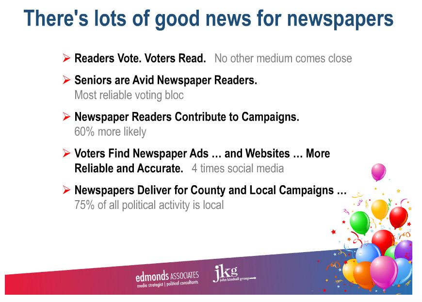 Political ad good news